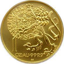 Zlatá mince 10000 Kč Pražský groš 1996 Standard