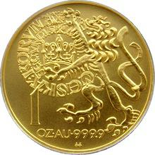 Zlatá minca 10000 Kč Pražský groš 1996 Štandard