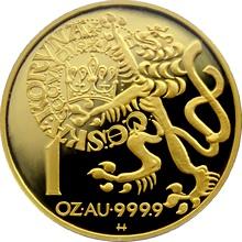 Zlatá minca 10000 Kč Pražský groš 1996 Proof