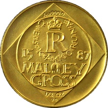Zlatá minca 5000 Kč Malý groš 1995 Štandard