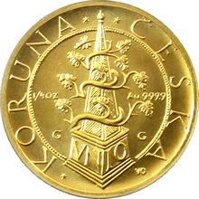 Zlatá minca 2500 Kč Tolar moravských stavov 1995 Štandard