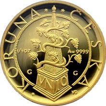 Zlatá mince 2500 Kč Tolar moravských stavů 1996 Proof