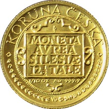 Zlatá mince 1000 Kč Třídukát slezských stavů 1995 Standard