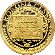 Zlatá mince 1000 Kč Třídukát slezských stavů 1996 Proof