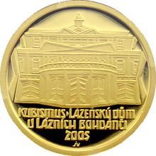 Zlatá minca 2000 Kč Kúpeľný Dom v Kúpeľoch Bohdanči Kubismus 2005 Proof