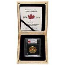 Zlatá mince Maple Leaf 25. výročí 1 Oz 2004 Diamant Standard