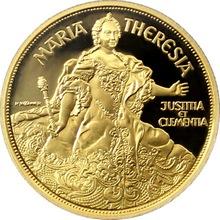 Zlatá mince Marie Terezie 1993 Proof