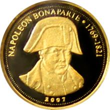 Zlatá mince Napoleon Bonaparte 0.5g Miniatura 2007 Proof