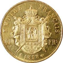Zlatá mince 100 Frank Napoleon III. 1858 A