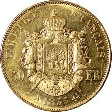 Zlatá mince 50 Frank Napoleon III. 1855