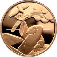 Zlatá mince Noemova archa 10 NIS Izrael Biblické umění 1998 Proof