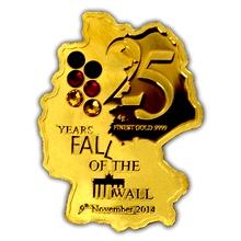 Zlatá mince Pád Berlínské zdi 25. výročí 2014 Krystaly Proof