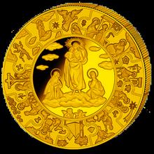 Zlatá mince Panna Marie 1 Kg Puzzle 2010 Proof