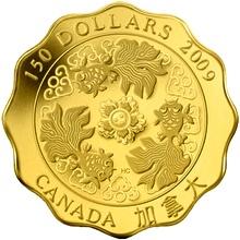 Zlatá minca Požehnánie bohatstva Lotos 2009 Proof (.99999)