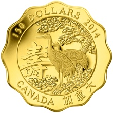 Zlatá minca Požehnanie dlhovekosti Lotos 2014 Proof (.99999)
