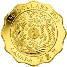 Zlatá minca Požehnánie mieru Lotos 2013 Proof (.99999)