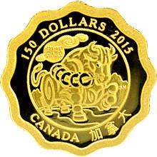 Zlatá minca Požehnania prosperity Lotos 2015 Proof (.99999)