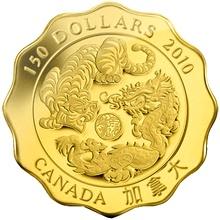 Zlatá minca Požehnanie sily Lotos 2010 Proof (.99999)