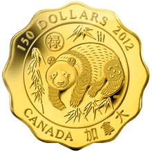 Zlatá minca Požehnanie Šťastia Lotos 2012 Proof (.99999)