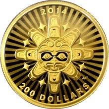Zlatá minca Prepojenie: Vzduch - Hromový vták 1/2 Oz 2014 Proof