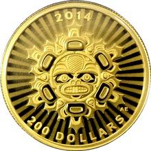 Zlatá minca Prepojení: Zeme - Bobr 1/2 Oz 2014 Proof