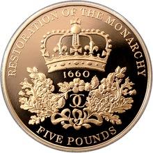 Zlatá mince Restaurace Stuartovců 350. výročí 2010 Proof
