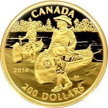 Zlatá minca Samuel de Champlain 2014 Proof