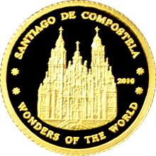 Zlatá mince Santiago de Compostela Miniatura 2010 Proof