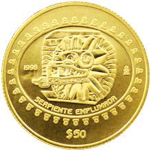 Zlatá mince Teotihuacán - Serpent 1/2 Oz 1998 Standard