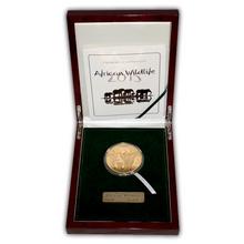 Zlatá mince 5 Oz Slon africký African Wildlife 2015 Proof