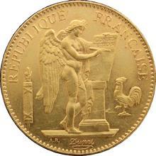 Zlatá mince 100 Frank Anděl - Génius 1881
