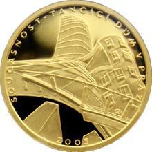 Zlatá minca 2000 Kč Tančící Dům v Prahe Súčasnosť 2005 Proof