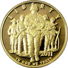 Zlatá mince United States Army 2011 Proof