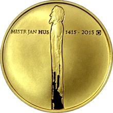 Zlatá minca 10000 Kč Jan Hus 1oz 2015 Proof