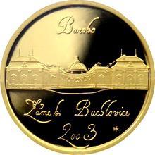Zlatá minca 2000 Kč Zámok Buchlovice Baroko 2003 Proof