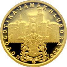 Zlatá minca 2000 Kč Zámok Hluboká Novogotika 2004 Proof