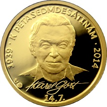 Zlatá půluncová medaile Karel Gott 2013 Proof
