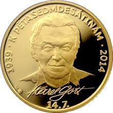 Zlatá uncová medaile Karel Gott 2013 Proof