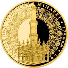 Zlatá uncová medaile Rozhledna Lednický minaret 2016 Proof