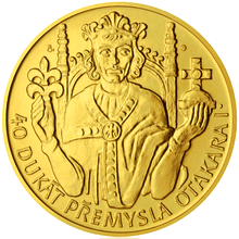 Zlatý 40 dukát Přemysl Otakar I. 2012 Standard