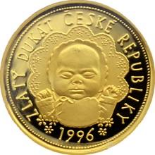 Zlatý dukát k narození dítěte 1996 Proof