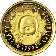 Zlatý dukát k narození dítěte 1998 Proof