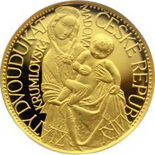 Zlatá medaile Dvoudukát ČR Krumlovská Madona 1997 Proof