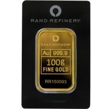 100g Rand Refinery Investiční zlatý slitek