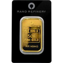 50g Rand Refinery Investiční zlatý slitek