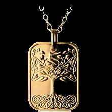 Zlatý medailonek Strom Života Proof
