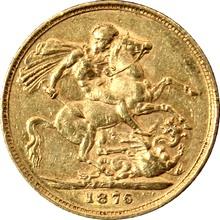 Zlatý Sovereign Královna Viktorie 1876