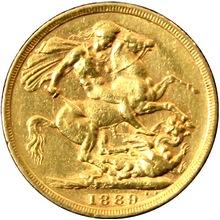 Zlatý Sovereign Královna Viktorie 1889