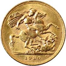 Zlatý Sovereign Král Jiří V. 1930