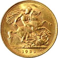 Zlatý Sovereign Král Jiří V. 1931